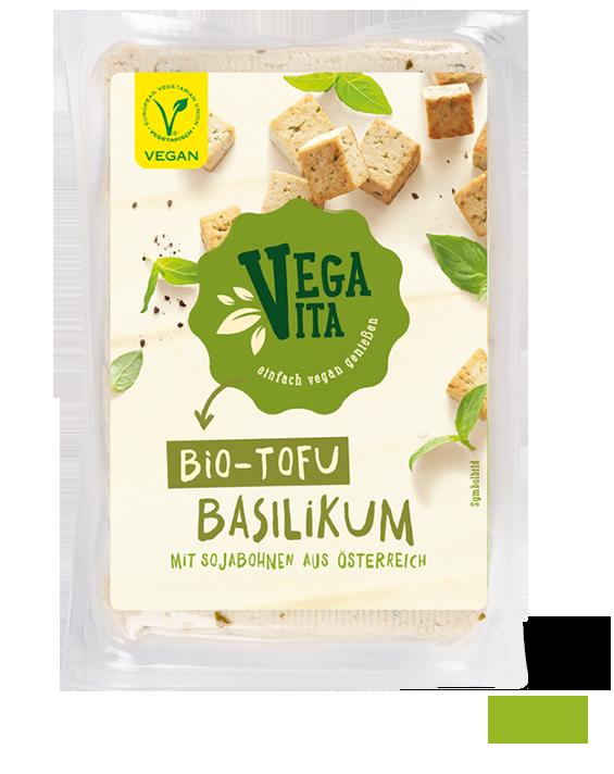 Bio Tofu Basilikum Großansicht | Vegavita