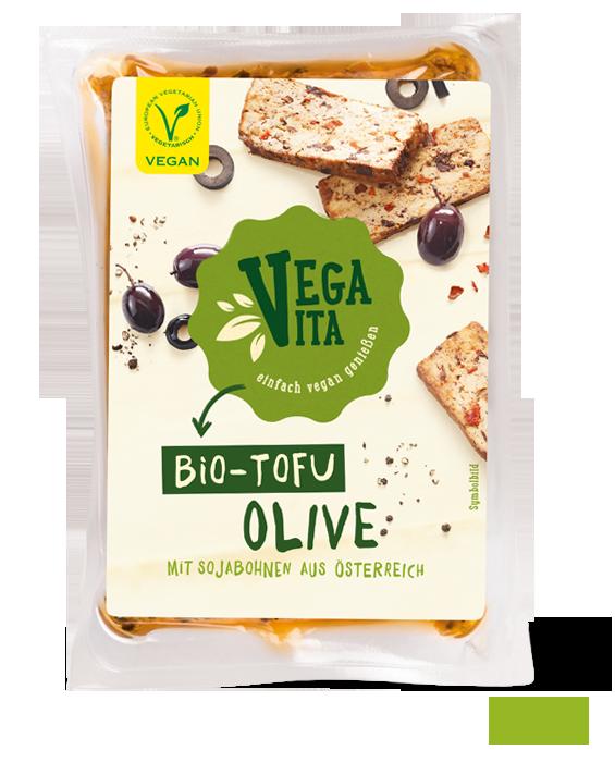 Bio Tofu Olive Großansicht | Vegavita
