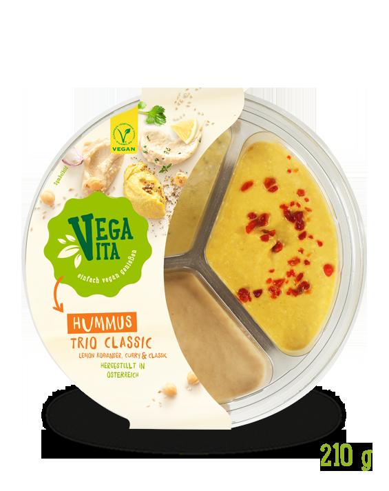 Hummus Trio Classic | Vegavita Großansicht