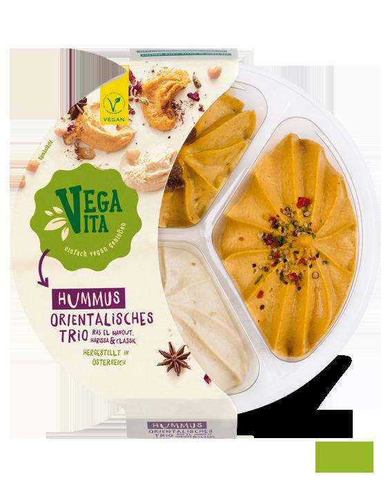 Hummus Orientalisches Trio Großansicht| Vegavita