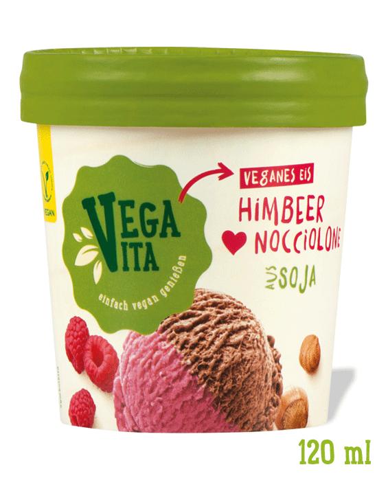 Eis Himbeer Nocciolone Großansicht | Vegavita