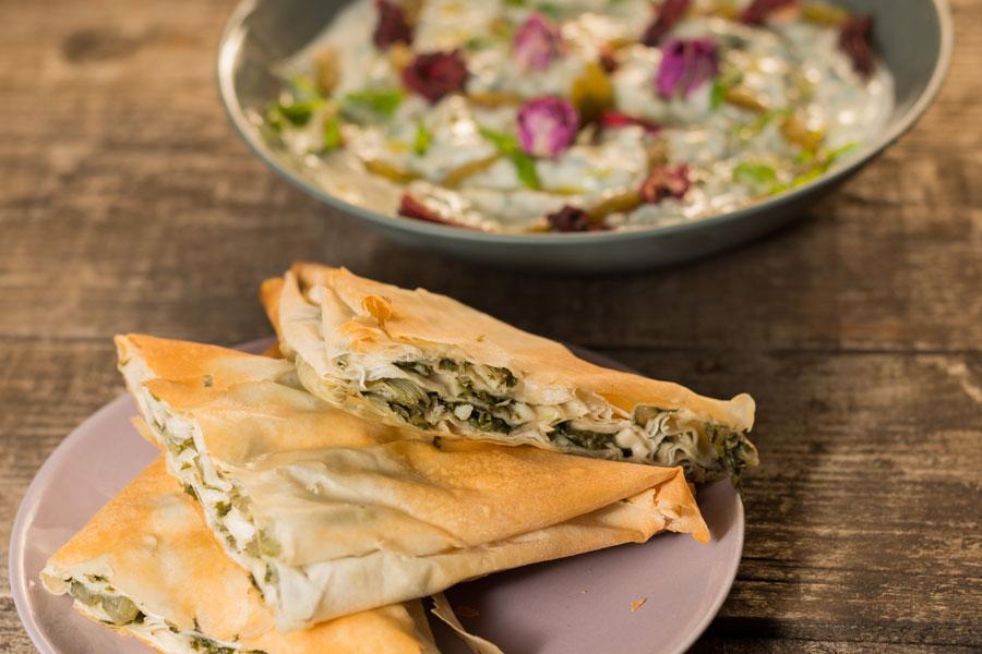 Vegan Oriental von Parvin Razavi gefüllte Teigtaschen
