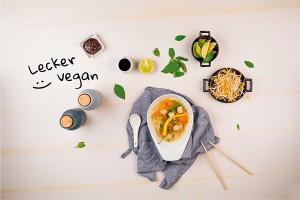 Vegane Pho mit Tofu