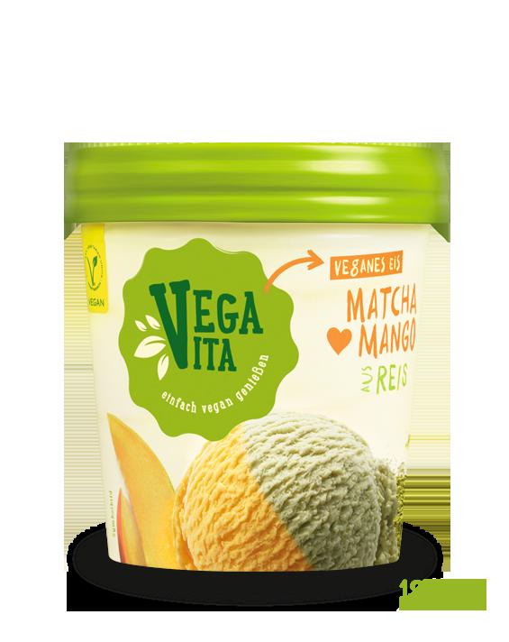 Matcha-Mango-Eis Großansicht | Vegavita