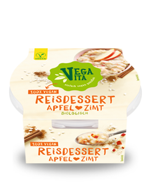 Reisdessert Apfel Zimt | Vegavita