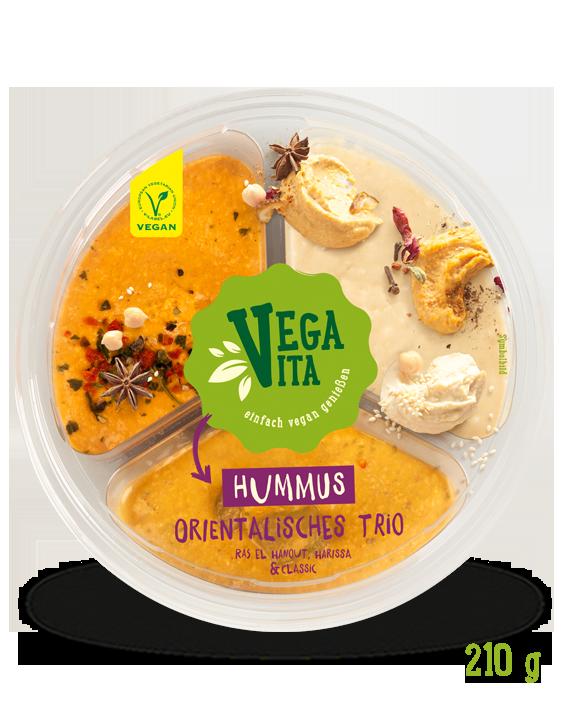 Hummus Orientalisches Trio Großansicht | Vegavita
