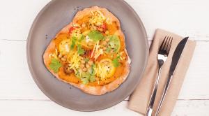 Vielfältige Hummus-Rezepte Kichererbsenpizza