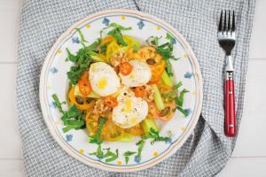 Seidentofu-Rezepte Sizilianischer Salat
