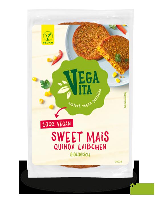 Sweet Mais Quinoa Laibchen Großansicht | Vegavita