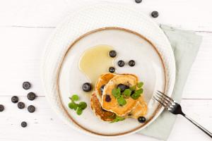 Vegane Woche Kokos-Pancakes