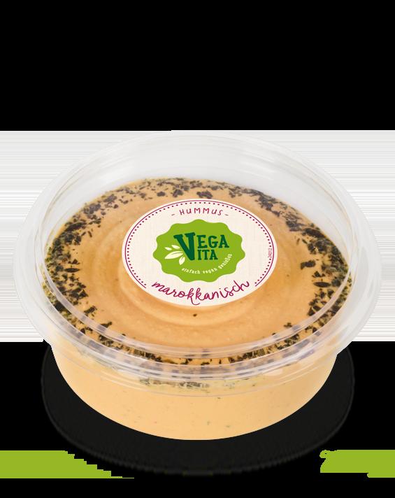 Feinkost Hummus Marokkanisch 200g Großansicht | Vegavita