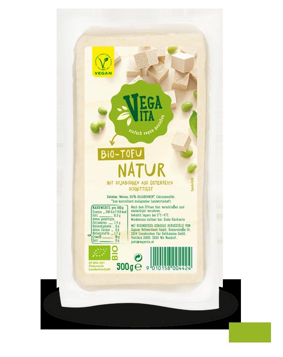 Tofu Natur 500g Großansicht | Vegavita