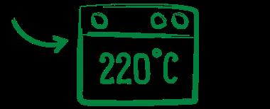 Backrohr 220°C rechts